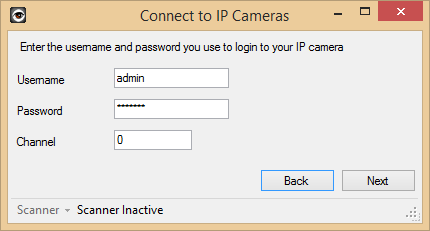 Enter your username and password (if you have set them in IP Webcam)