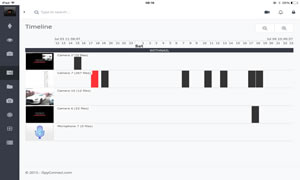 iSpyPRO tablet timeline view (full touch)